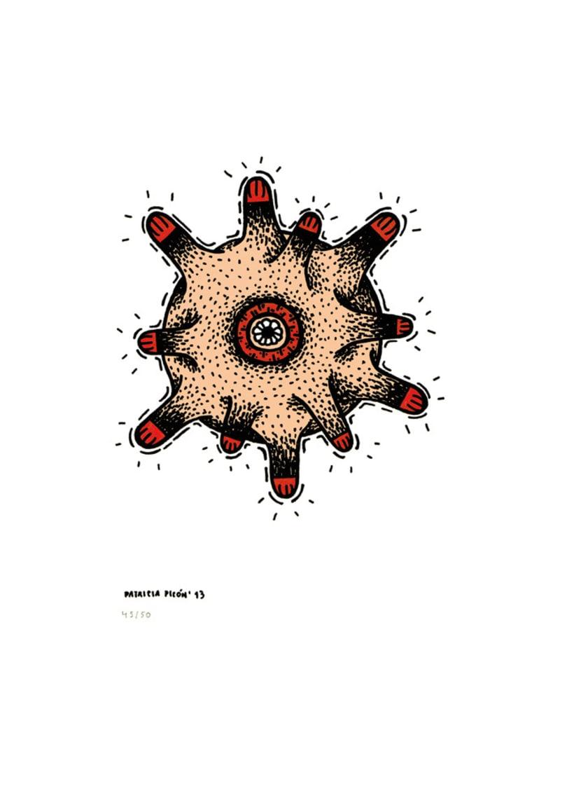 50 dibujos automáticos. Acrílico / papel de 21 X 29,7 cm 45