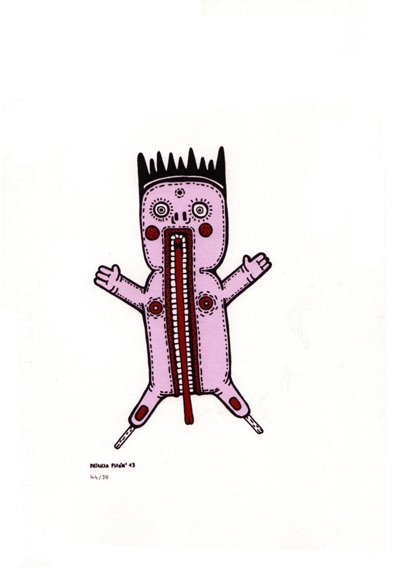 50 dibujos automáticos. Acrílico / papel de 21 X 29,7 cm 44
