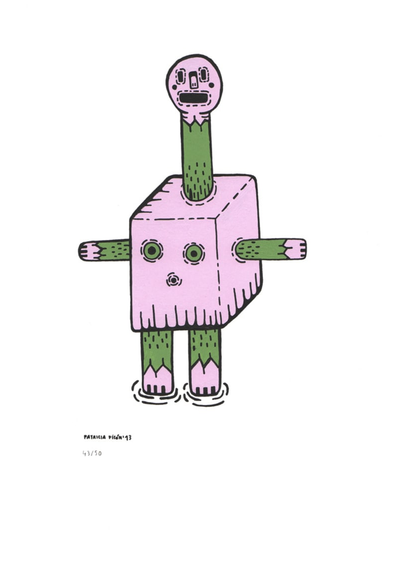 50 dibujos automáticos. Acrílico / papel de 21 X 29,7 cm 43