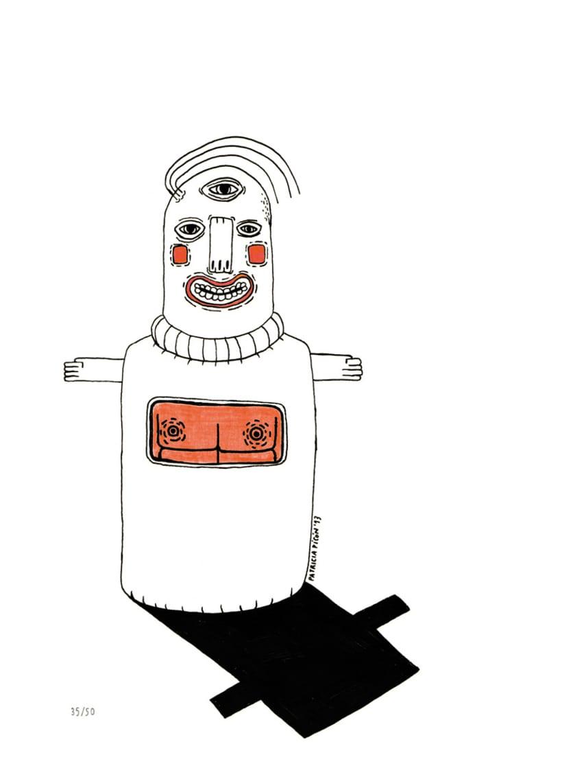 50 dibujos automáticos. Acrílico / papel de 21 X 29,7 cm 35