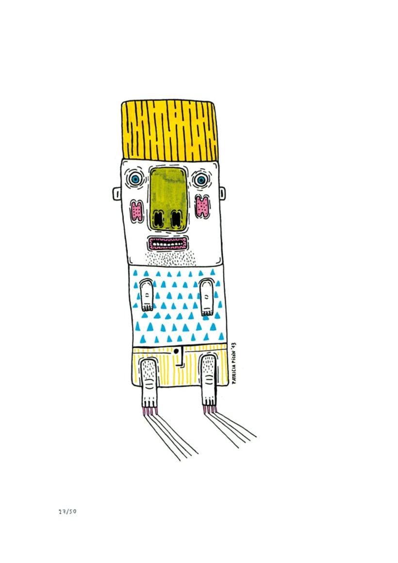 50 dibujos automáticos. Acrílico / papel de 21 X 29,7 cm 27