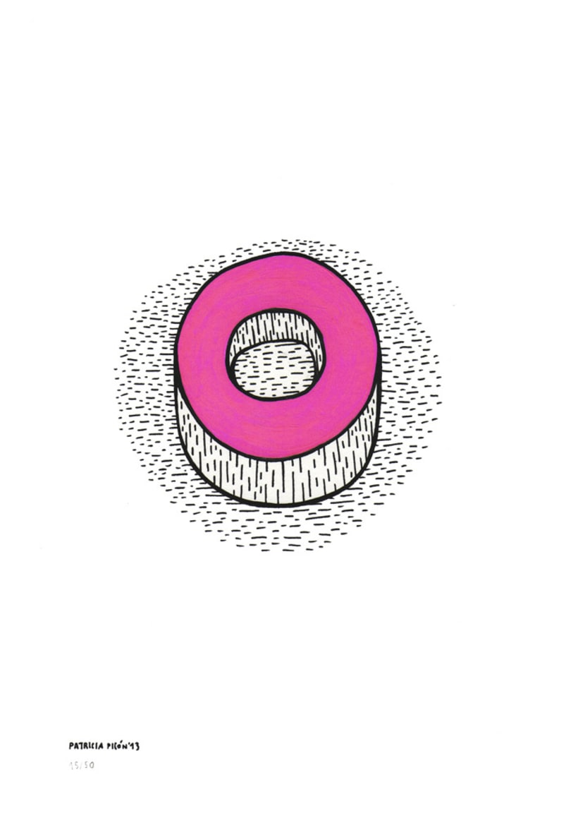50 dibujos automáticos. Acrílico / papel de 21 X 29,7 cm 15