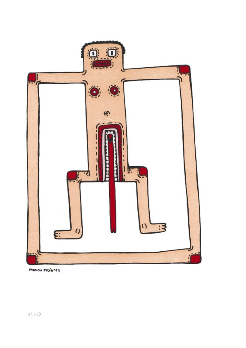 50 dibujos automáticos. Acrílico / papel de 21 X 29,7 cm 11
