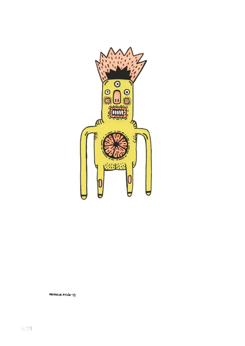 50 dibujos automáticos. Acrílico / papel de 21 X 29,7 cm 4