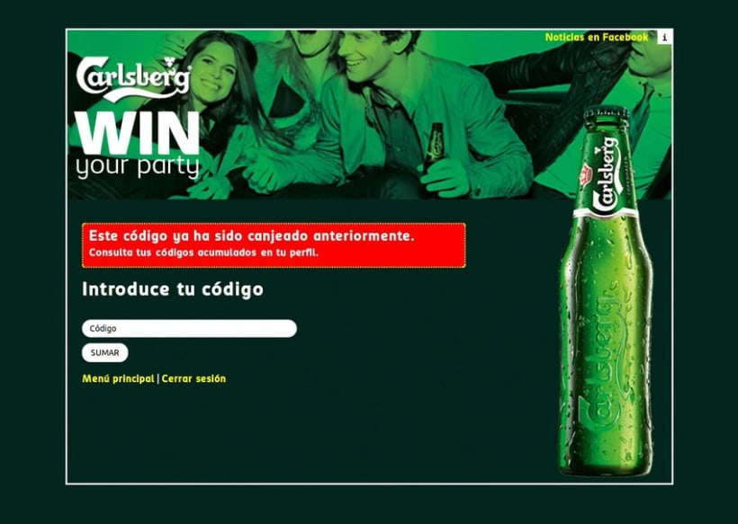 Carlsberg Win Your Party 2012 6