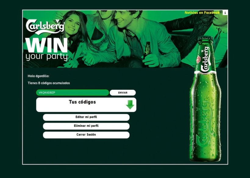 Carlsberg Win Your Party 2012 4