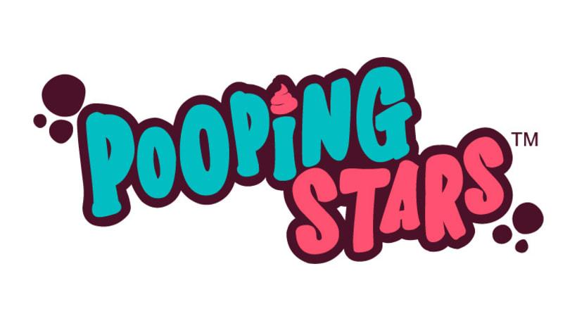 POOPING STARS Diseño logotipo 1