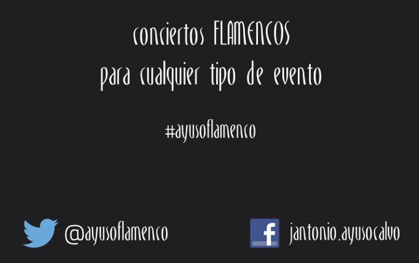 Tarjeta Visita Ayuso Flamenco 2