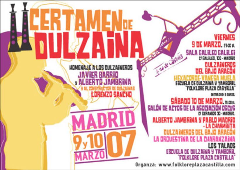 Carteles Certamen de dulzaina y tambor Folklore Plaza Castilla 8