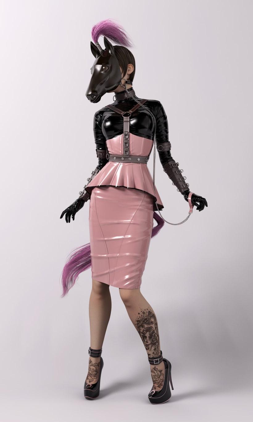 Plastic Series:Pink Amazon 1