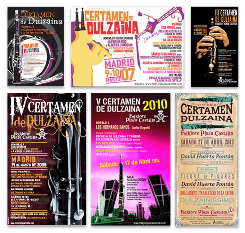 Carteles Certamen de dulzaina y tambor Folklore Plaza Castilla 3