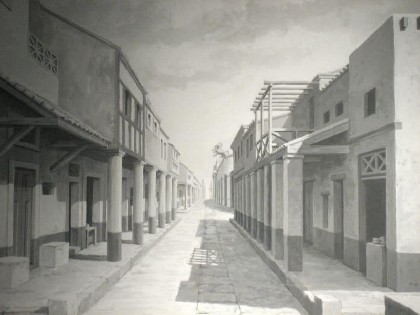 Murales para el Centro Arqueológico de la Almoina. Valencia. 6