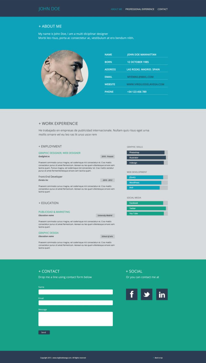 resume website design