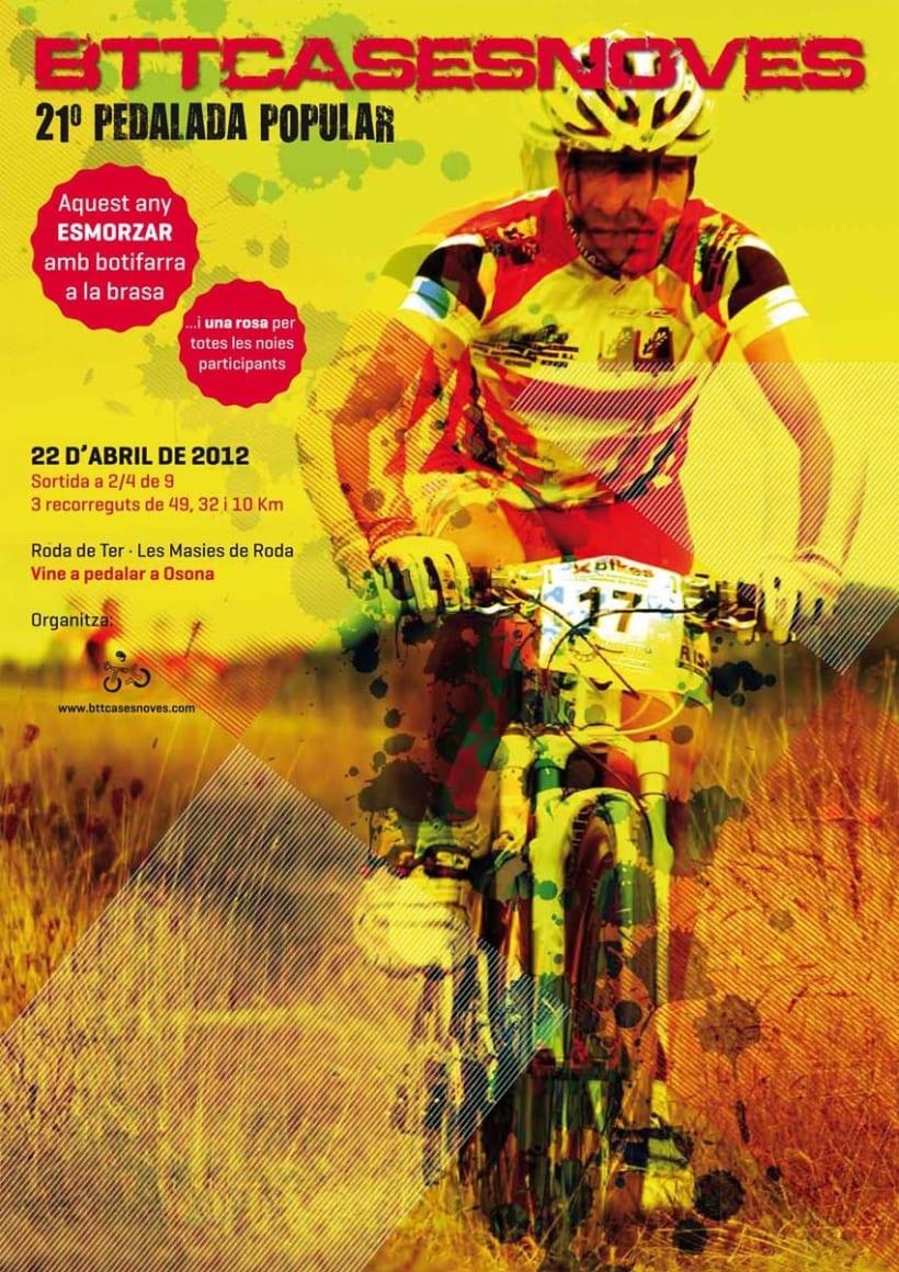 Cartell Pedalada Btt Cases Noves 2012 2