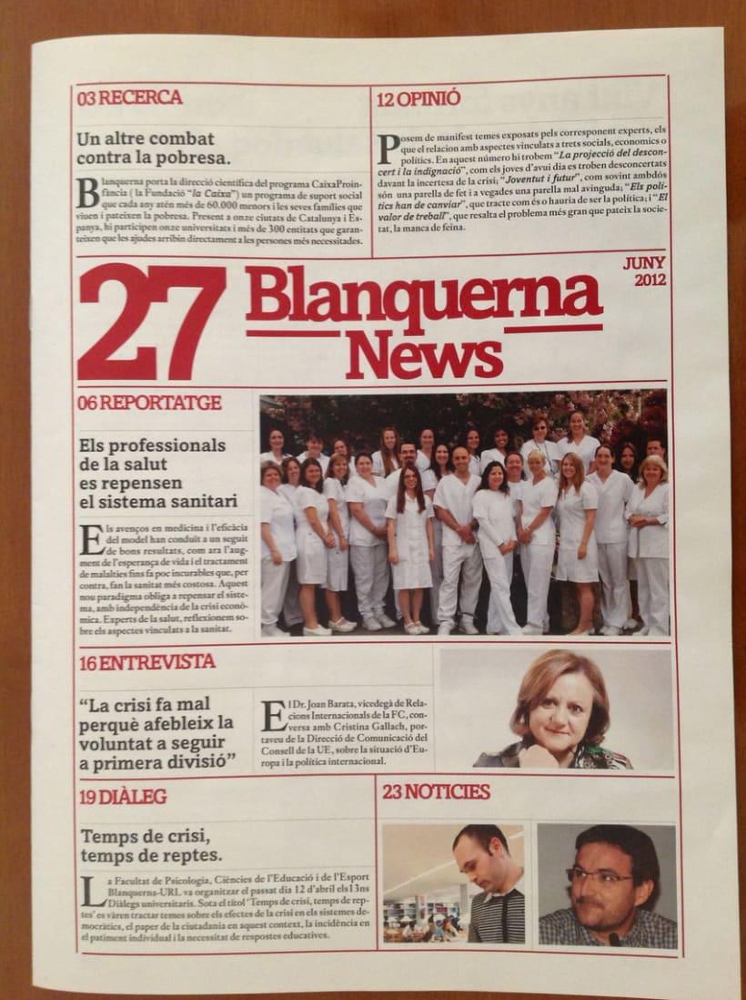 Rediseño revista Blanquerna 2