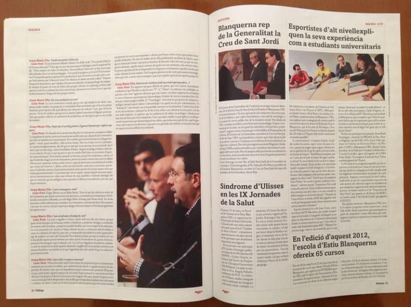 Rediseño revista Blanquerna 9