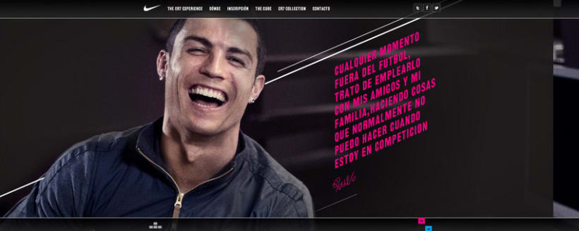 Nike CR7 Experience Website 4