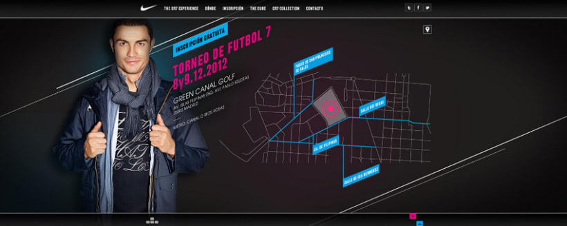Nike CR7 Experience Website 2