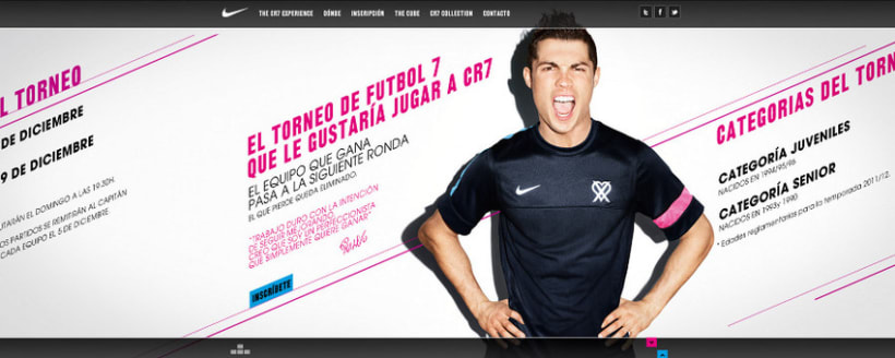 Nike CR7 Experience Website 1
