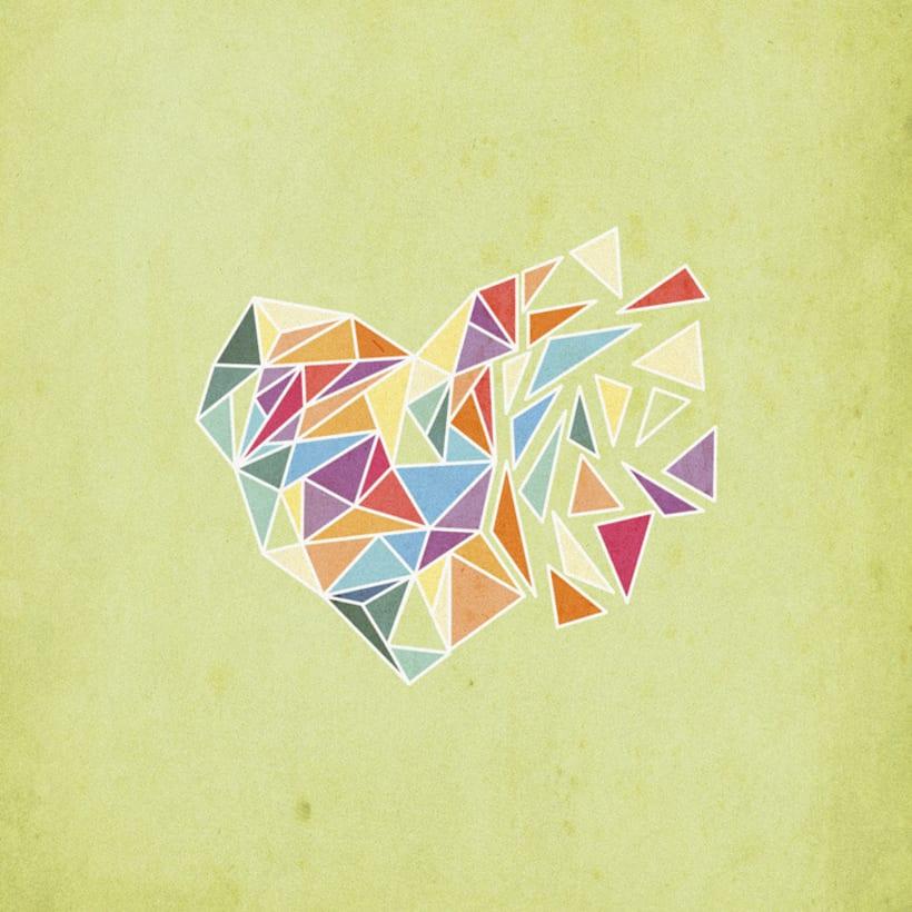 Concurso talenthouse diseña arte gráfico para HAIM - Crystal heart 1