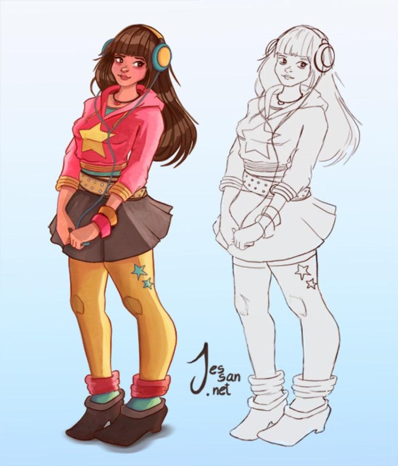 Personajes, Concepts 1