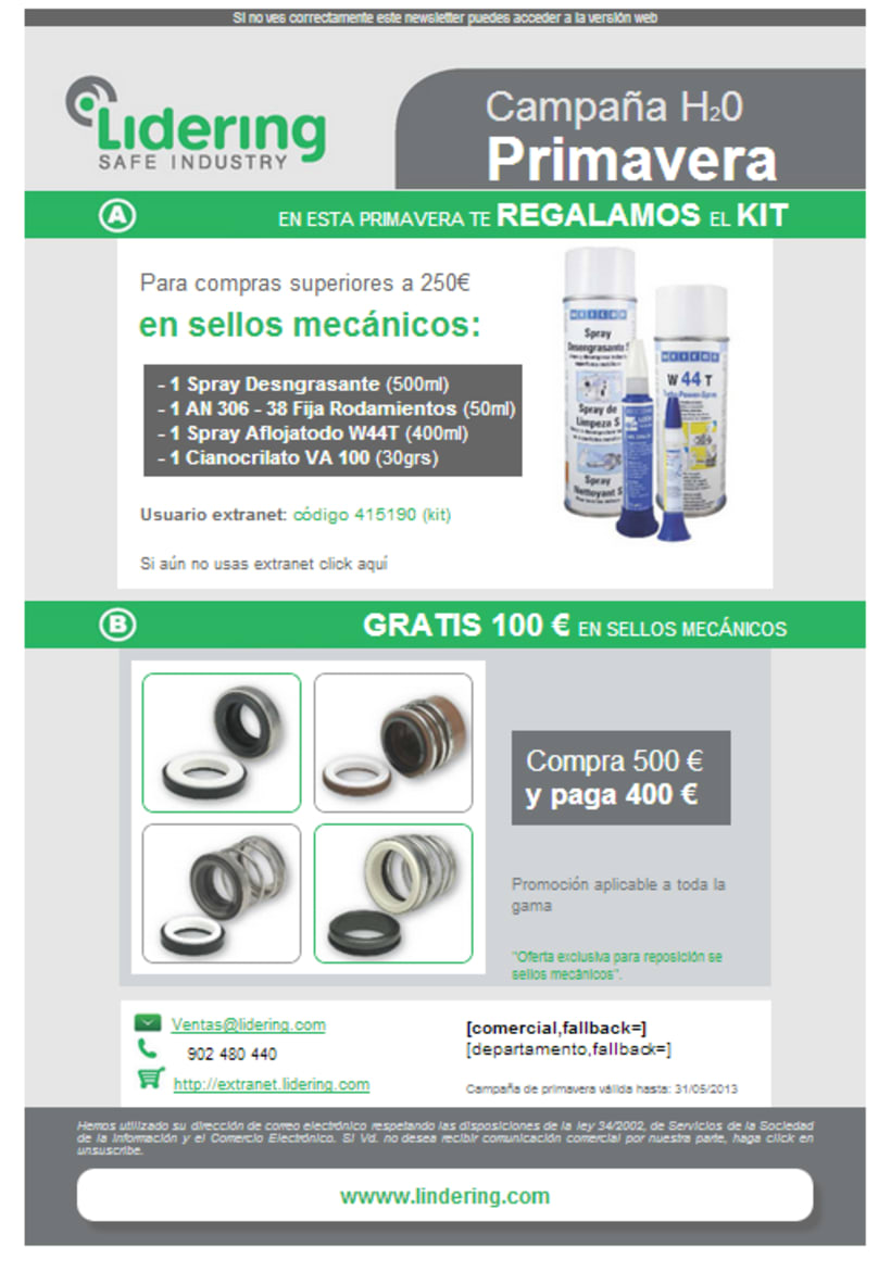 Newsletter para Campaign Monitor 1