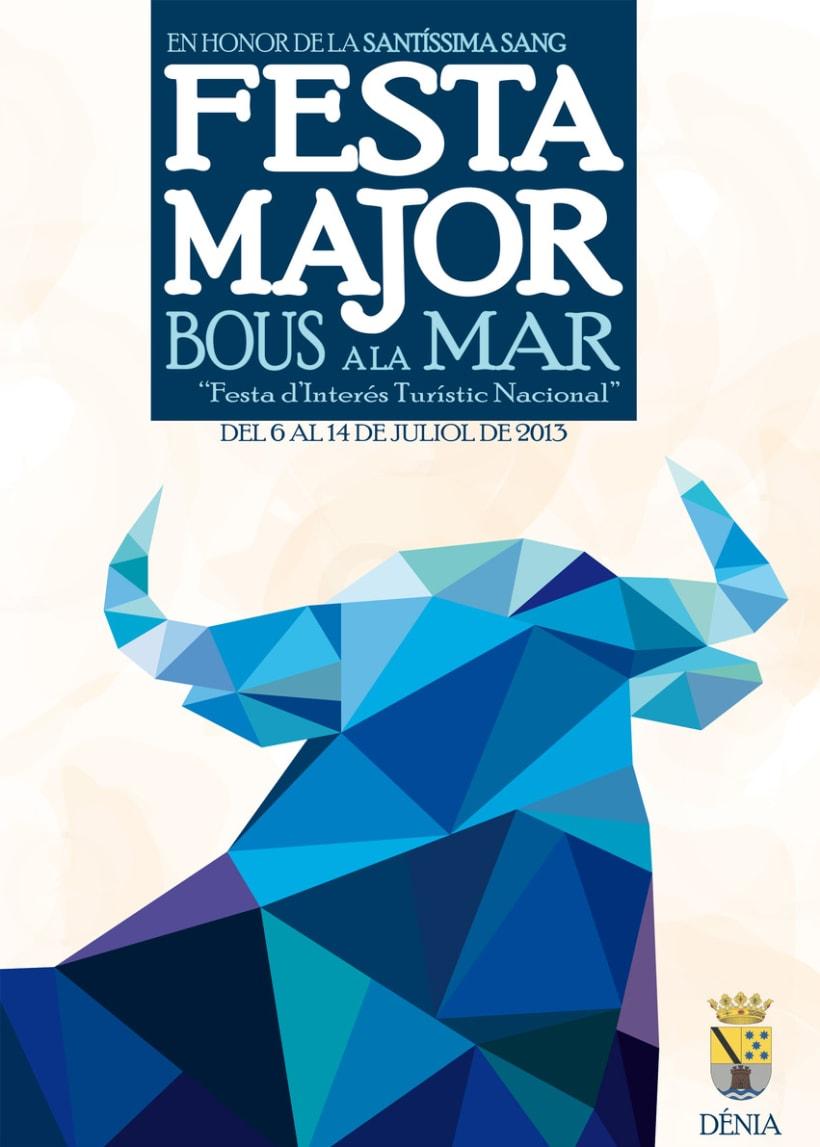 Propuesta de Cartel anunciador de la Fiesta Major en honor de la Santísima Sangre 1