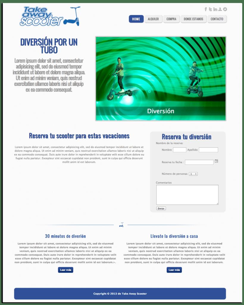 Diseño web y gráfico Take Away Scooter 1