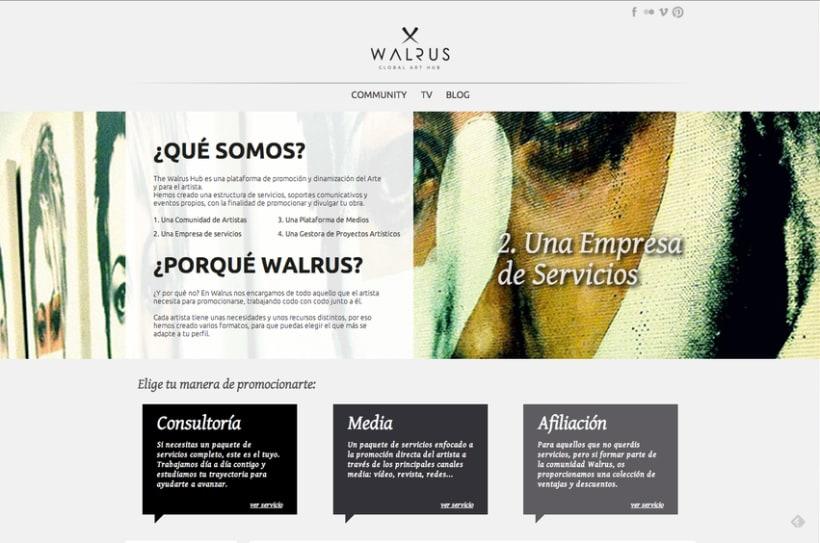 The Walrus Hub: Responsive web 0