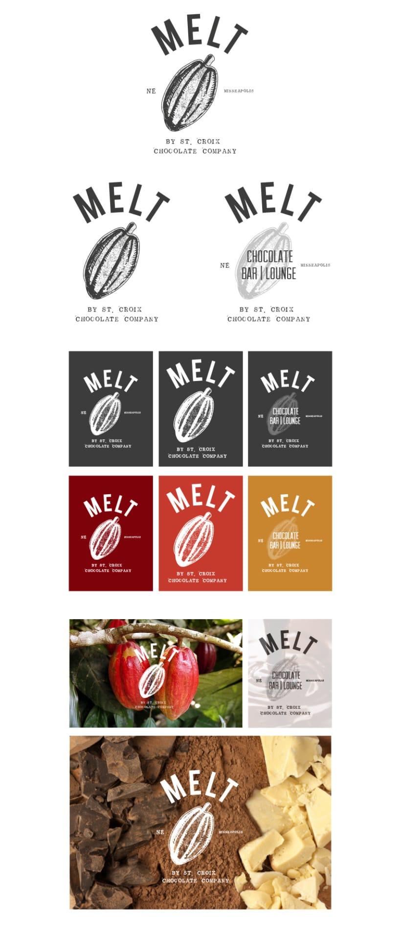 Propuesta de logo // MELT By St. Croix Chocolate Factory 1