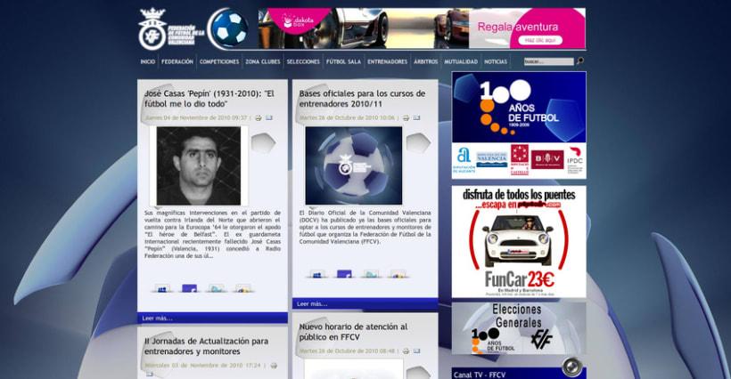 Web de la Federación de Fútbol de la Comunidad Valenciana 3