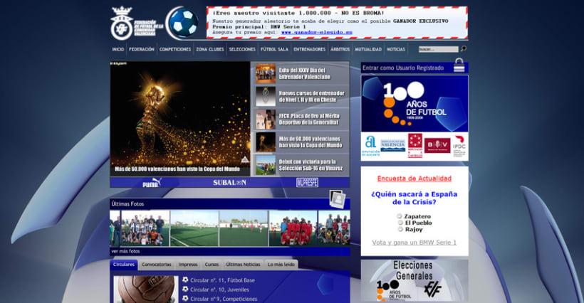 Web de la Federación de Fútbol de la Comunidad Valenciana 2