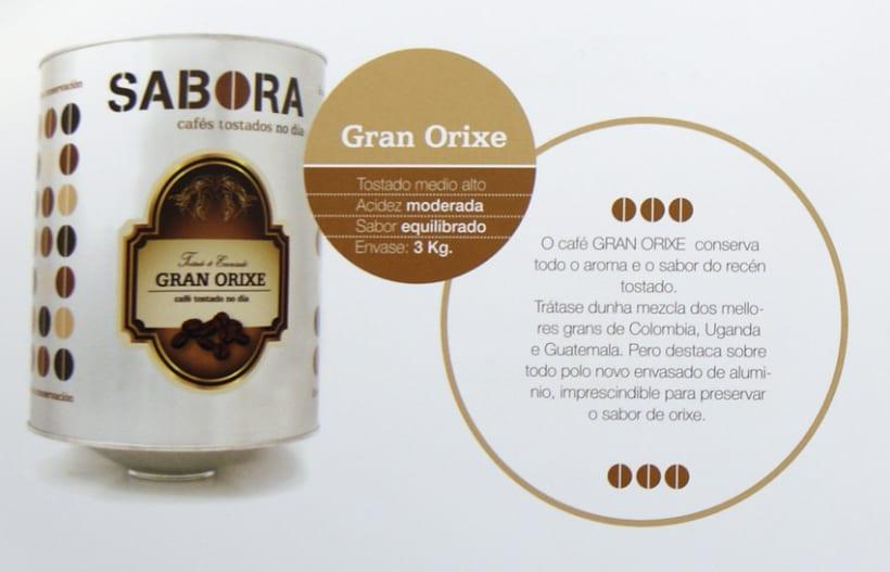 Cafés Gran Orixe de Cafés Sabora carácterísticas técnicas.