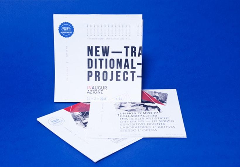 """Proyecto de corporate para la exposición colectiva """"New Tradicional Project""""* 2"""