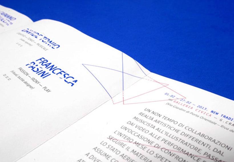 """Proyecto de corporate para la exposición colectiva """"New Tradicional Project""""* 3"""