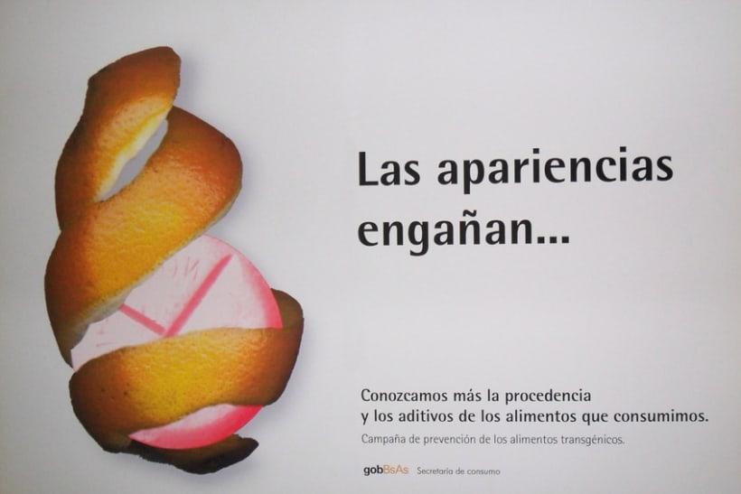 Campaña publicitaria contra alimentos transgénicos del Gobierno de la Ciudad de Buenos Aires 2