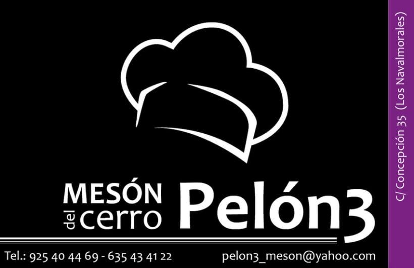 """Tarjeta personal """"Meson del cerro Pelón 3"""" 1"""