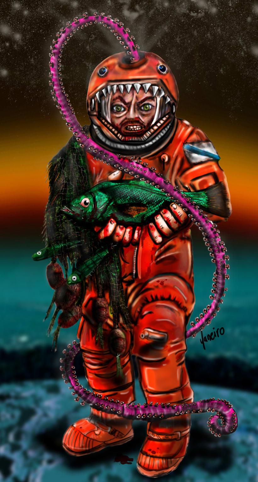 """Ilustración """"Astronauta Marinero"""" 1"""