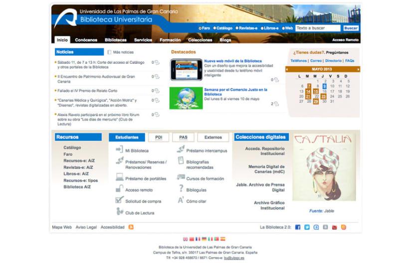 Web Biblioteca Universitaria de Las Palmas de Gran Canaria 1