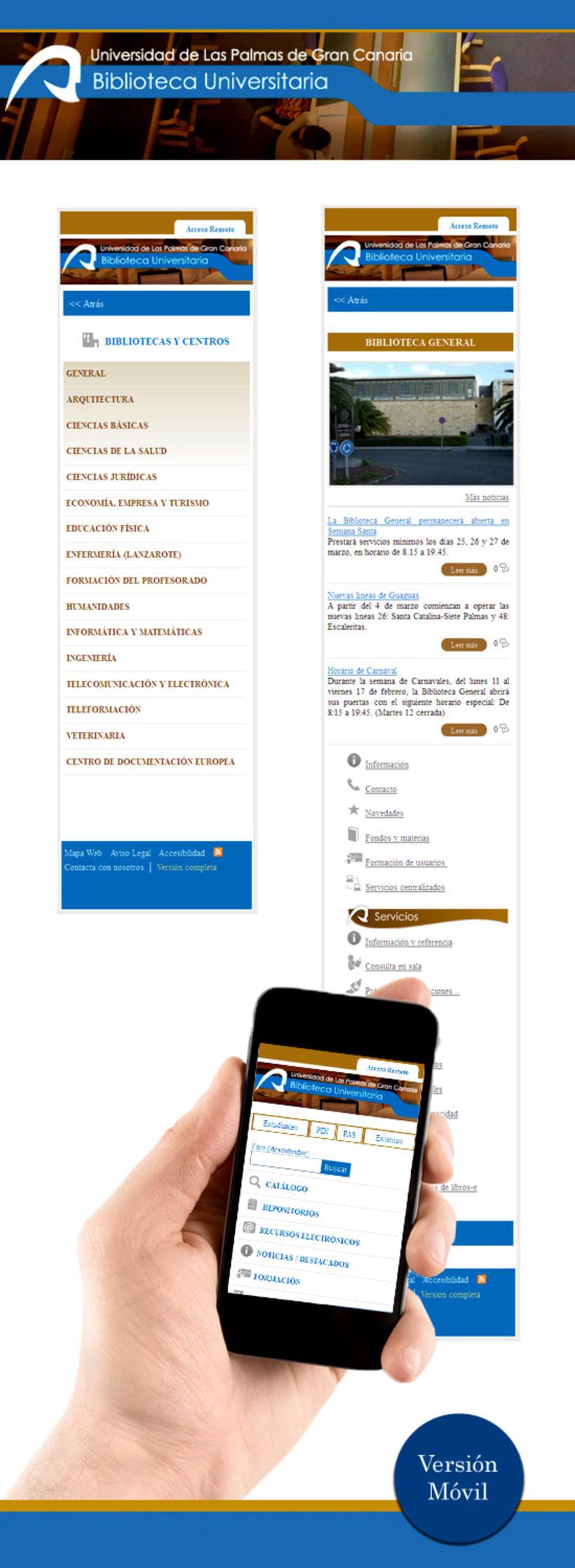 Web Biblioteca Universitaria de Las Palmas de Gran Canaria 2