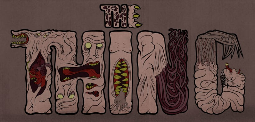 The thing lettering 1