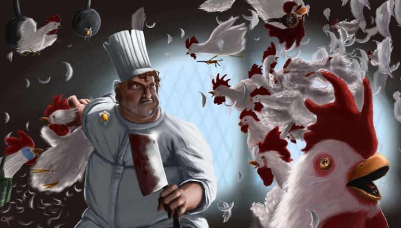pelea de gallinas 1