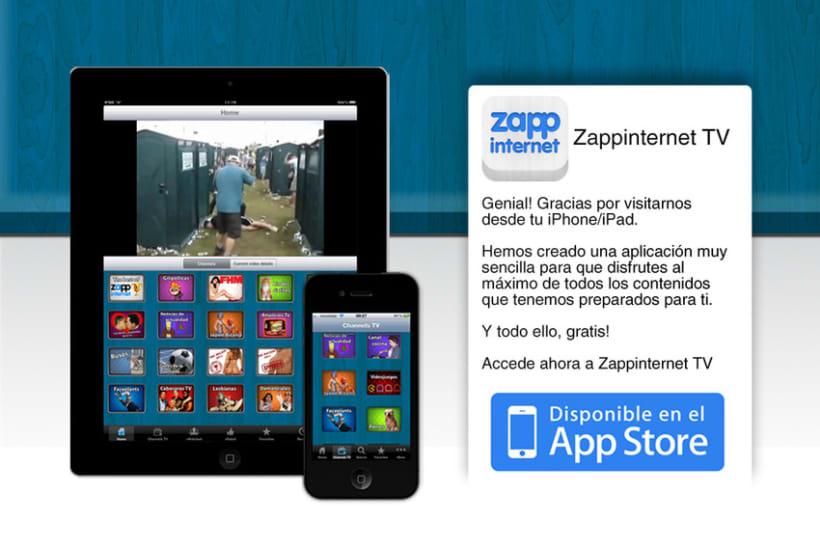 Zappinternet iOS App 5