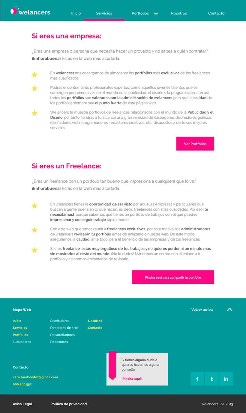 Trabajando en una web para un proyecto 2