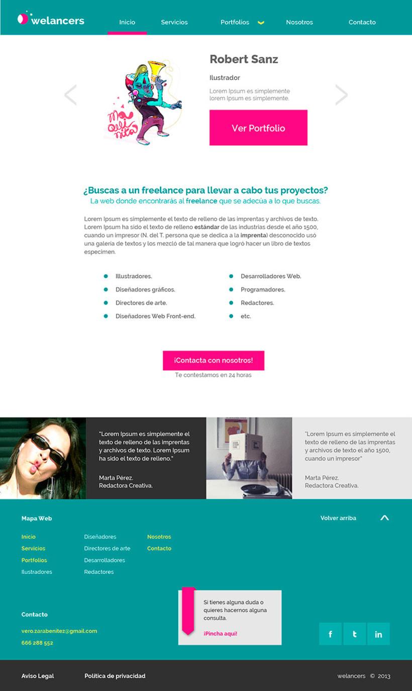 Trabajando en una web para un proyecto 1