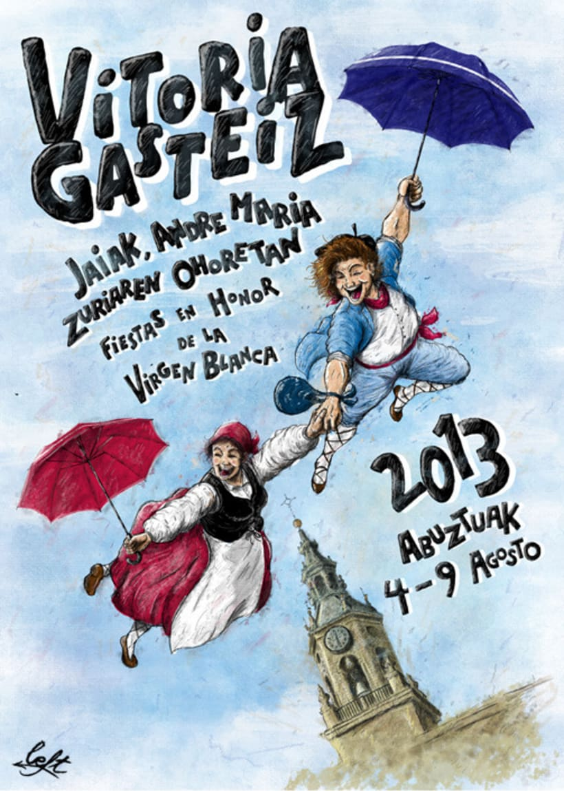 Cartel Fiestas en Honor de la Virgen Blanca (2013)  1