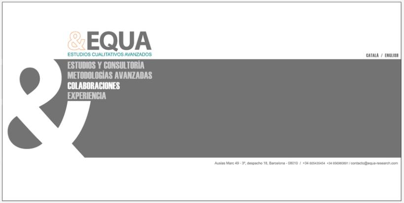 Diseño Imagen + Web EQUA 7