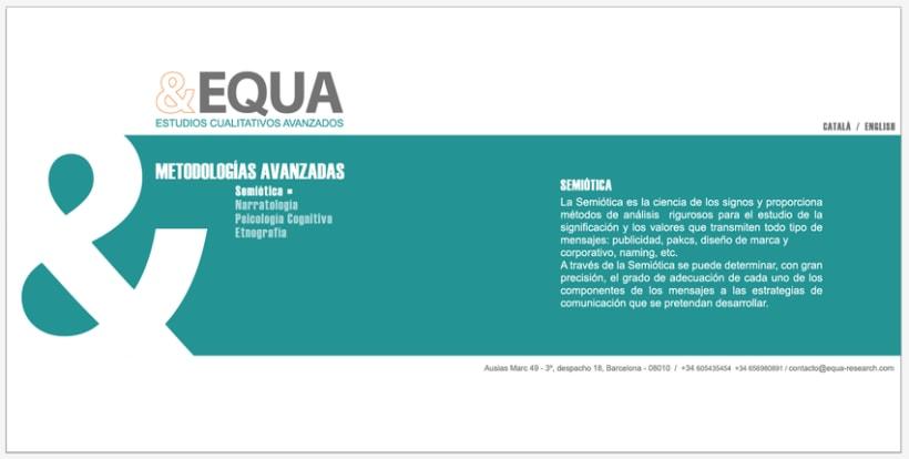 Diseño Imagen + Web EQUA 6
