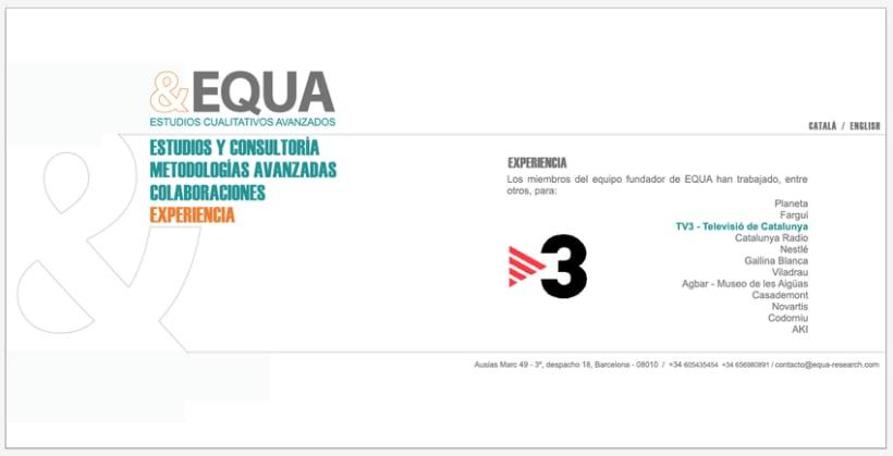Diseño Imagen + Web EQUA 5