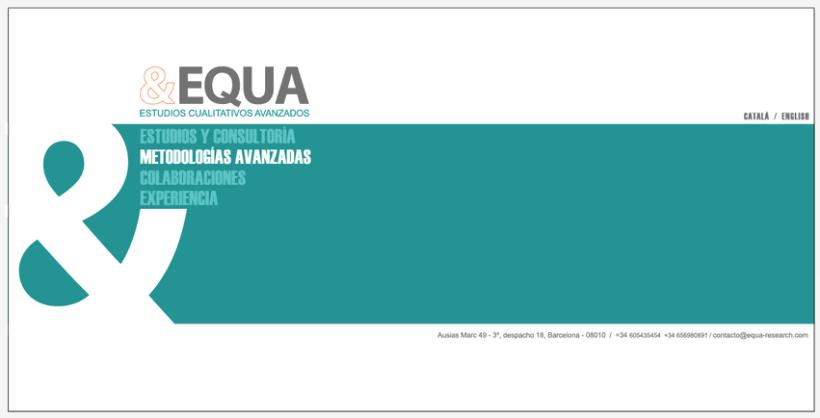 Diseño Imagen + Web EQUA 4